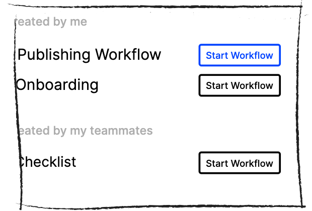 Starting Slack workflow