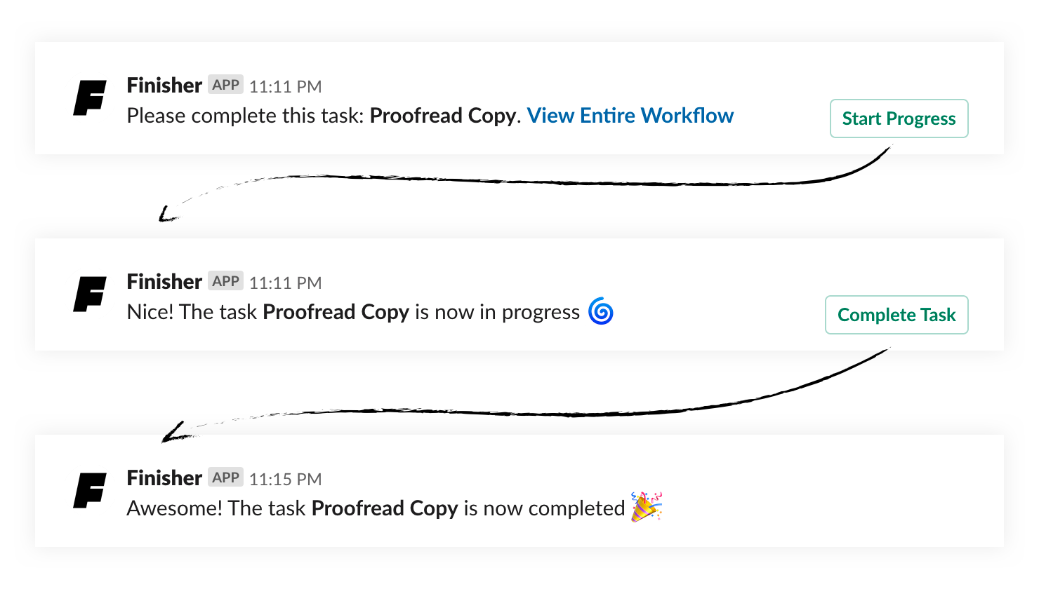 Slack workflow notifications